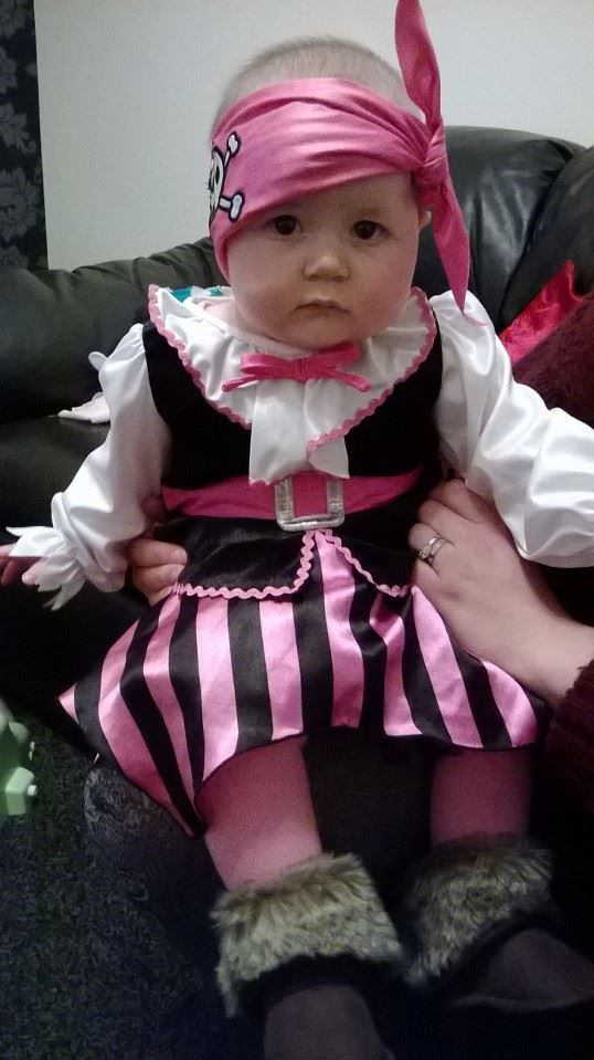 Thank you, Auntie Bex, for the lovely pirate costume!