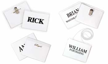 What does your name badge say about you?